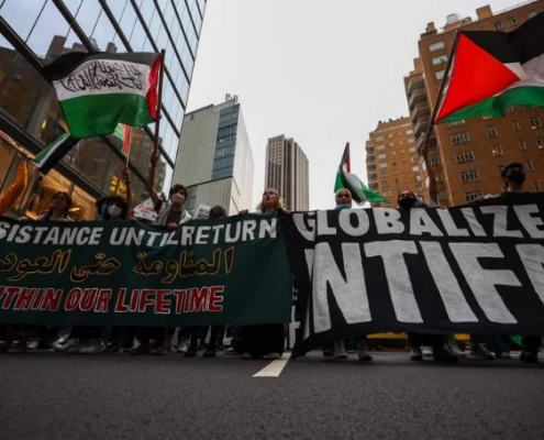 'Globalize Intifada': Pro-Palestine Protesters March in New York
